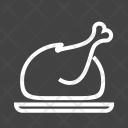 Full Chicken Roast Icon