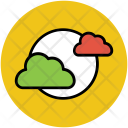 Full Moon Clouds Icon