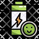 Full Battery Battery Level Smiley Icon