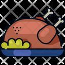 Turkey Meal Autumn Icon