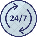 Full Service Twenty Four Hours Customer Service Icon