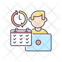 Full Time Job Work Icon
