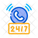 Round The Clock Help Desk Icon