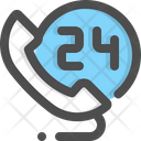 Hours Hotline Support Icon
