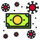 Money Virus Coronavirus Icon