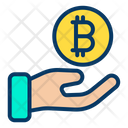 Charity Bitcoin Care Business Care Icon
