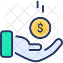 Donation Funding Hand Icon