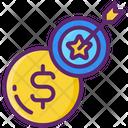 Funding Goal Crowdfunding Goal Crowdfunding Target Icon