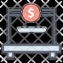 Funding Platform Monetary Help Crowdfunding Icon