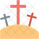 Funeral Cross Death Icon
