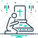 Graveyard Funeral Cemetery Icon