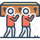 Funeral Carry Coffin Icon