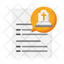 Funeral Arrangements Funeral Document Funeral Paper Icon
