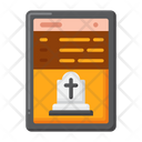 Funeral Program Funeral Schedule Funeral Event Icon