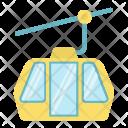 Funicular Mountain Elevator Icon
