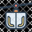 Funicular Ropeway Transportation Icon
