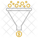 Funnel Coins Cash Icon