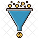 Funnel Coins Filter Icon