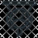 Throughput Funnel Icon