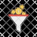 Funnel Filter Dollar Icon