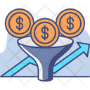 Funnel Money Funnel Sorting Icon