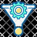 Conversion Coin Funnel Icon