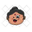 Indian Aunty Emoji Icon