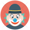 Circus Joker Tramp Clown Auguste Clown Icon