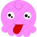 Funny Pink Cartoon Icon