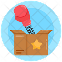 Surprise Punch Funny Punch Box Punch Cardboard Icon