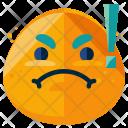 Furious Emoji Face Icon