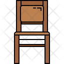 Paded Wooden Chair Icon