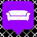 Sofa Place Furniture Icon