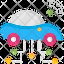 Future Car Smart Car Car Wifi Icon