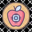 Future Food Apple Microchip Icon