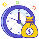 Time Is Money Future Savings Business Time Icon
