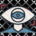 Future Eye Focus Icon