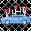 Autonomous Vehicle Autonomous Car Futuristic Car Icon
