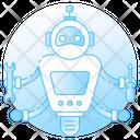 Futuristic Robot Robot Bionic Man Icon
