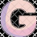 G Sign Alphabet Icon
