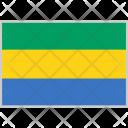 Gabon Flag Country Icon