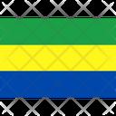 Flag Country Gabon Icon