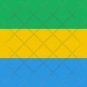 Gabon Flag World Icon