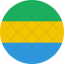 Gabon Flag World Icon