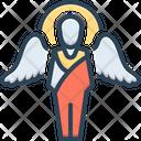 Gabriel Angel Archangel Christian Feathers Faith Divine Icon