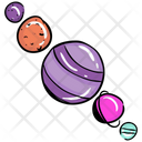 Galaxy Planets Planetary System Spheres Icon