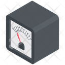 Galvanometer Current Meter Ammeter Icon