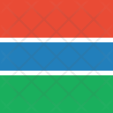 Gambia Flag World Icon