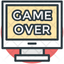 Game Over Led Icon