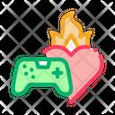 Game Burning Heart Icon